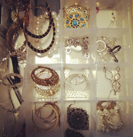 Just a fraction of my earring collection...