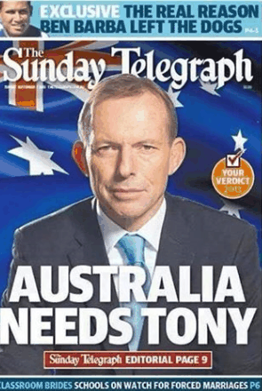tony abbott daily telegraph