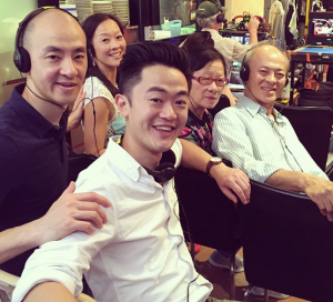 Benjamin Law on the set of his new SBS show 'The Family Law' Image Source: Benjamin Law Instagram